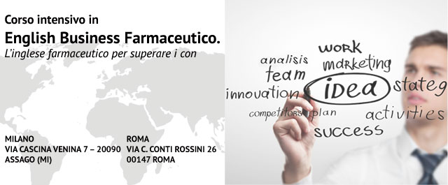 Corso intensivo in ENGLISH BUSINESS FARMACEUTICO - Roma e Milano